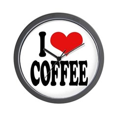 I Love Coffee Wall Clock