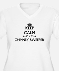 Keep calm and kiss a Chimney Swe Plus Size T-Shirt
