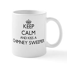 Keep calm and kiss a Chimney Sweeper Mugs