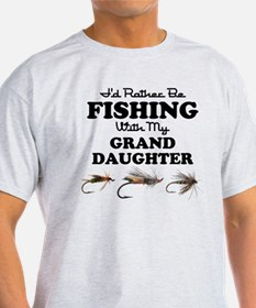 Rather Be Fishing Granddaughter T-Shirt