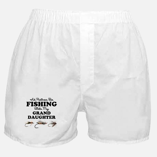 Rather Be Fishing Granddaughter Boxer Shorts