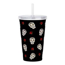Sugar Skulls and Roses Acrylic Double-wall Tumbler