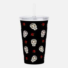Sugar Skulls and Roses Acrylic Double-wall Tumbler