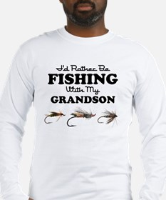 Rather Be Fishing Grandson Long Sleeve T-Shirt