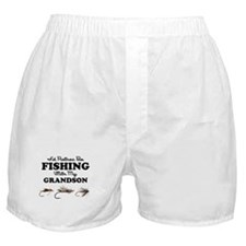 Rather Be Fishing Grandson Boxer Shorts