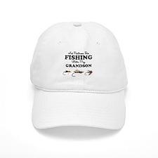 Rather Be Fishing Grandson Baseball Cap