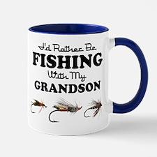 Rather Be Fishing Grandson Mug