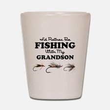 Rather Be Fishing Grandson Shot Glass