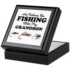 Rather Be Fishing Grandson Keepsake Box