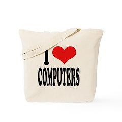 I Love Computers Tote Bag