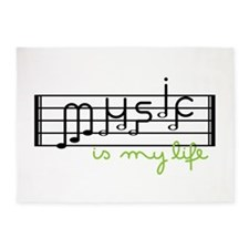 Music Is Life 5'x7'Area Rug