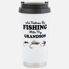 Rather Be Fishing Grandson Travel Mug
