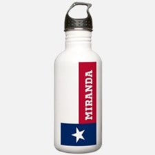 Monogram Flag of Texas Water Bottle