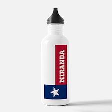 Monogram Flag of Texas Water Bottle