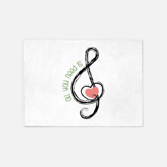 Need Music 5'x7'Area Rug