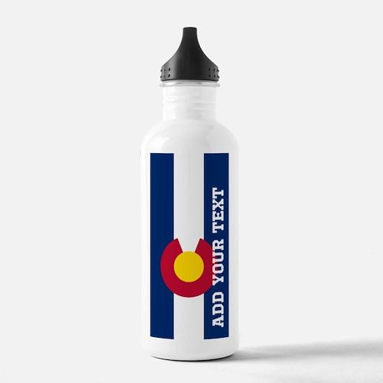 Monogram Customized Flag of Colorado Water Bottle