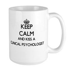 Keep calm and kiss a Clinical Psychologist Mugs