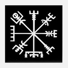 Viking Compass : Vegvisir Tile Coaster