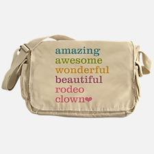 Rodeo Clown Messenger Bag