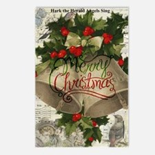Merry Christmas vintage bells Postcards (Package o