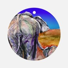 elephant mother and baby Ornament (Round)