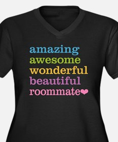 Awesome Room Women's Plus Size V-Neck Dark T-Shirt