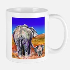 elephant mother and baby Mugs