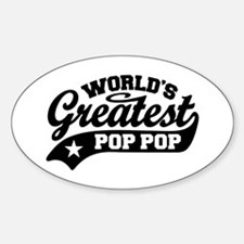 World's Greatest Pop Pop Sticker (Oval)