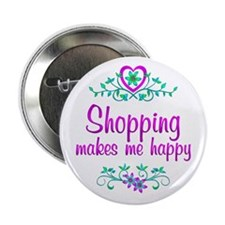"Shopping Happy 2.25"" Button"