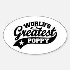 World's Greatest Poppy Sticker (Oval)