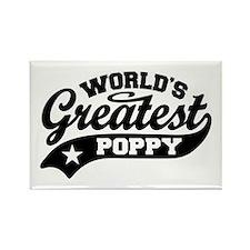 World's Greatest Poppy Rectangle Magnet