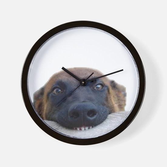 Cute Dog training Wall Clock