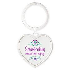 Scrapbooking Happy Heart Keychain