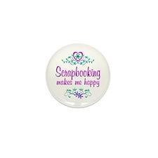 Scrapbooking Happy Mini Button (10 pack)