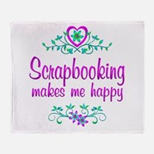 Scrapbooking Happy Throw Blanket