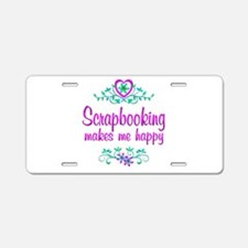 Scrapbooking Happy Aluminum License Plate