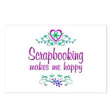 Scrapbooking Happy Postcards (Package of 8)