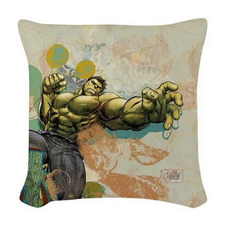 Hulk Avengers 2 Woven Throw Pillow by TheAvengers