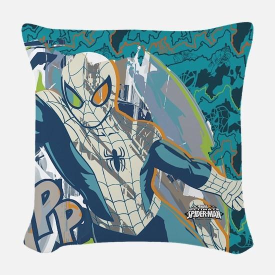 Spidey Blue Woven Throw Pillow