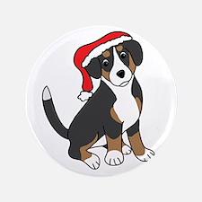"""Santa Entlebucher Mountain Dog 3.5"""" Button"""