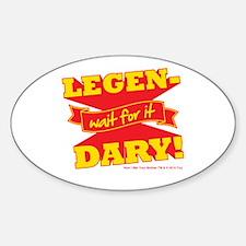 HIMYM Legendary Sticker (Oval)