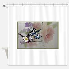 parakeet_rose, love birds Shower Curtain