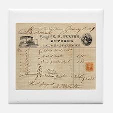 S. H. Fulton, Butcher Tile Coaster