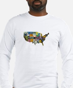 america license Long Sleeve T-Shirt