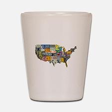 america license Shot Glass