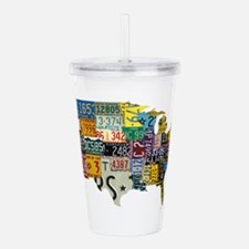 america license Acrylic Double-wall Tumbler