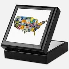 america license Keepsake Box