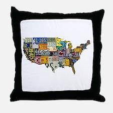 america license Throw Pillow