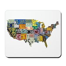 america license Mousepad