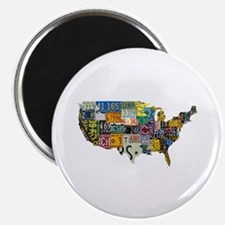 "america license 2.25"" Magnet (10 pack)"